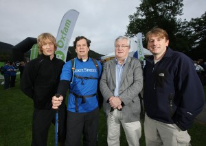 Pictured left to right are: TV celebrity Doctor Mark Hamilton, Jim Phalen (State Street), Willie Slattery (State Street) and Jim Clarken (Oxfam Ireland Chief Executive).